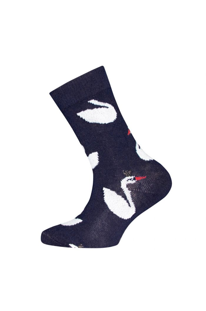 Ewers Kids Socks Swan All-over Navy (1139)