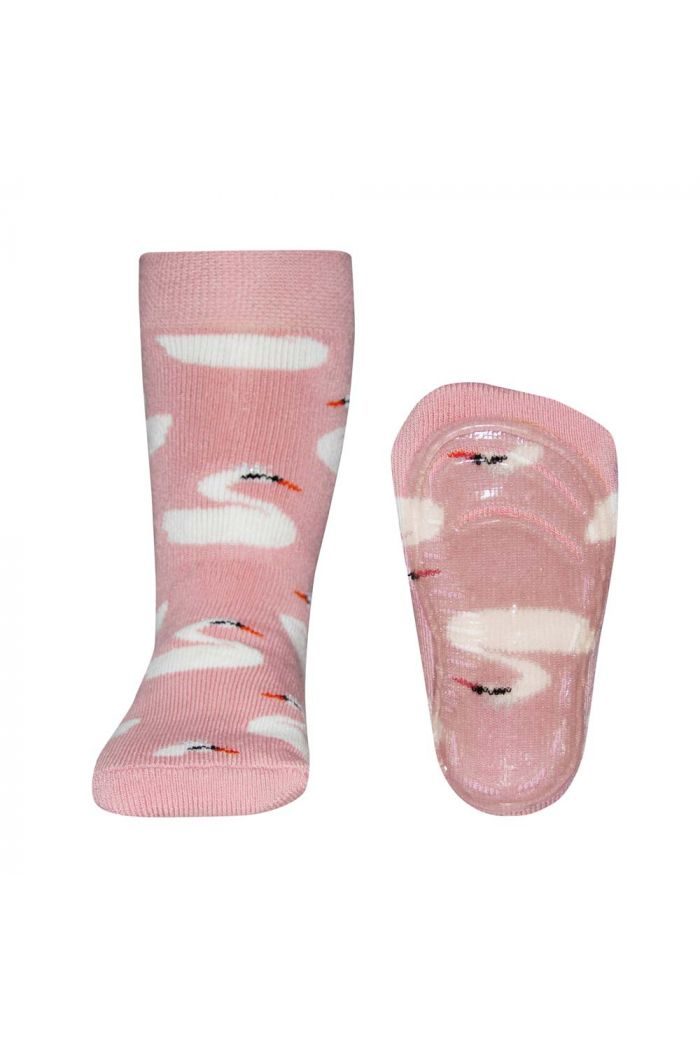 Ewers Anti-slip Socks Swans Hell wildrose (1404)