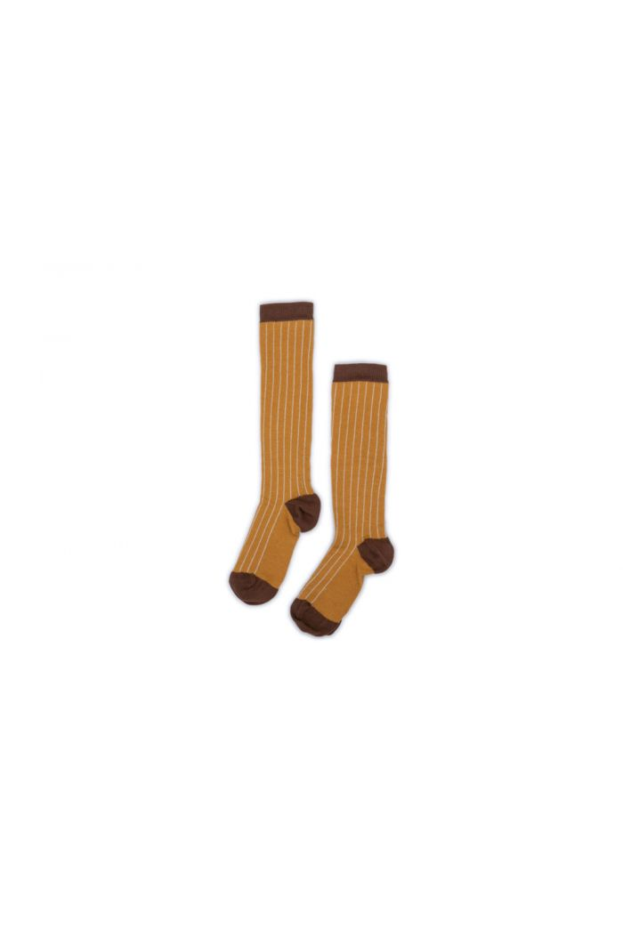 Monkind Gold Stripe Socks Gold