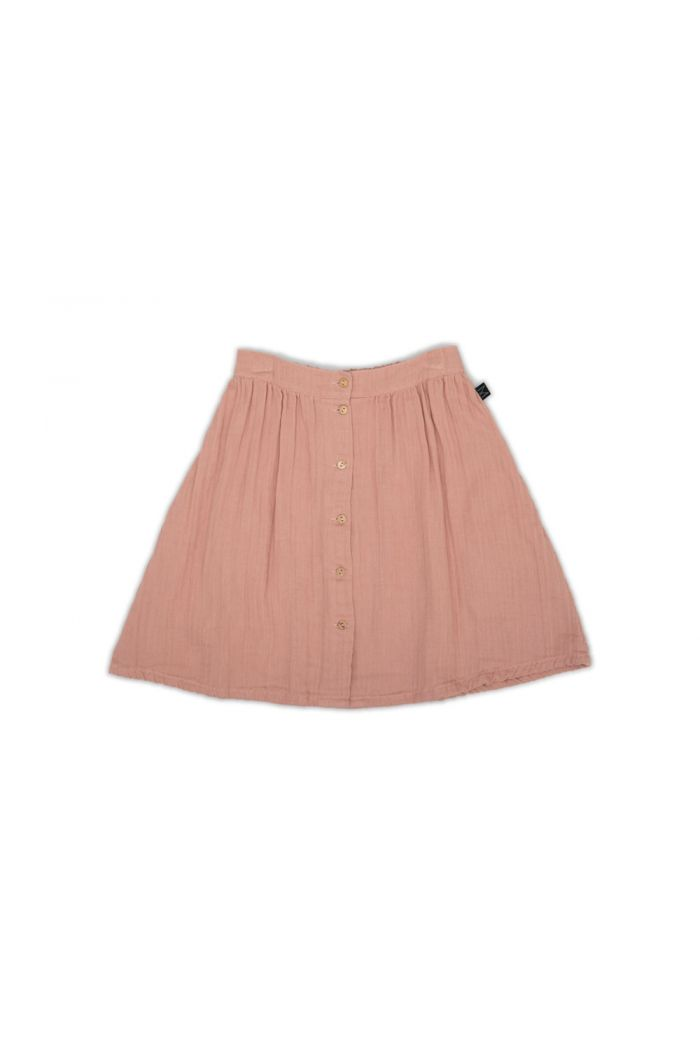 Monkind Rose Button Skirt Pink