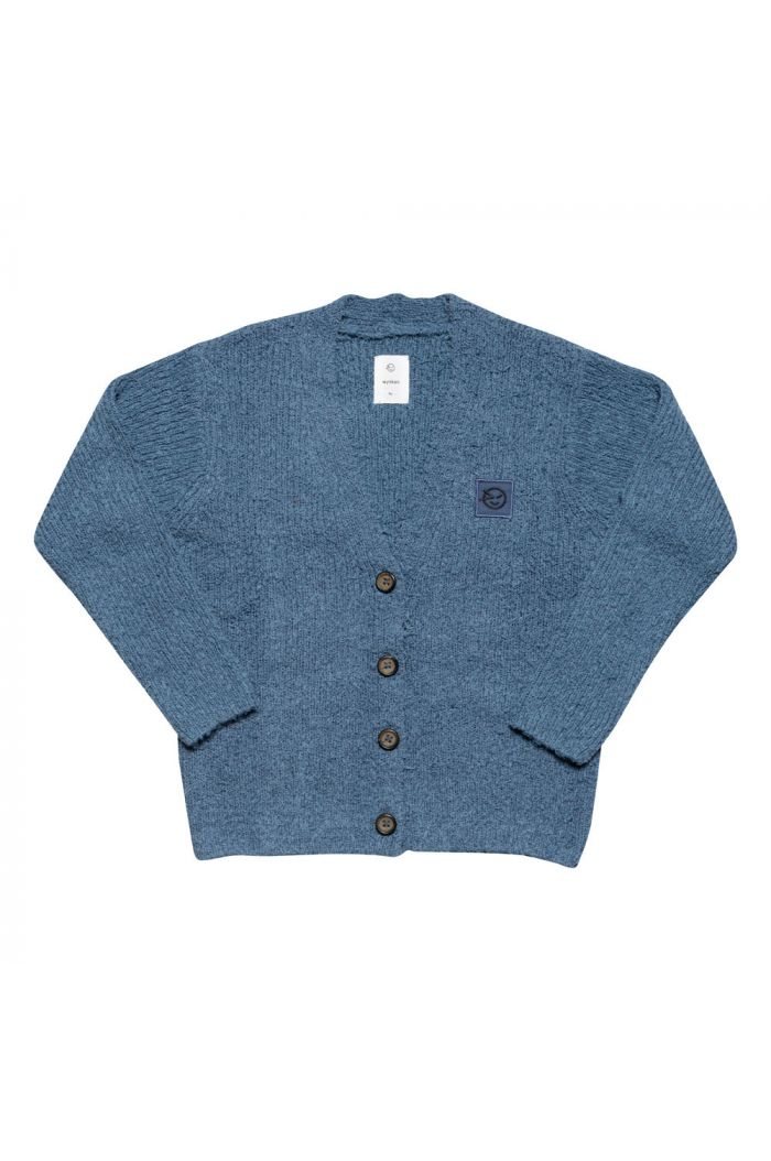 Wynken Shaggy Cardigan  Blue