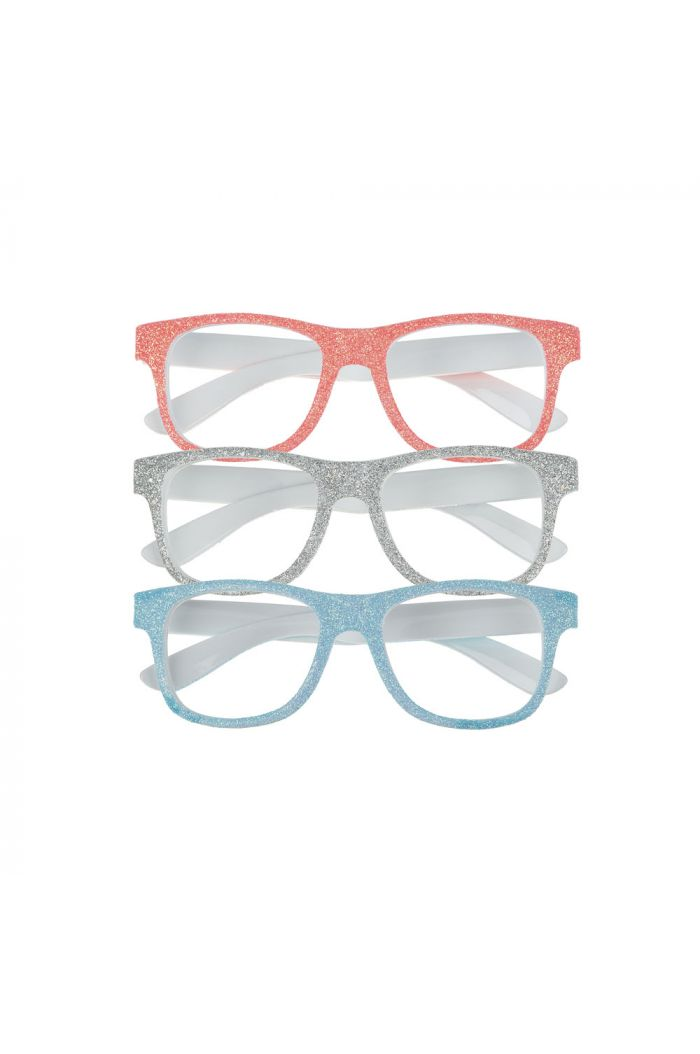 Mimi & Lula Glitter Glasses White