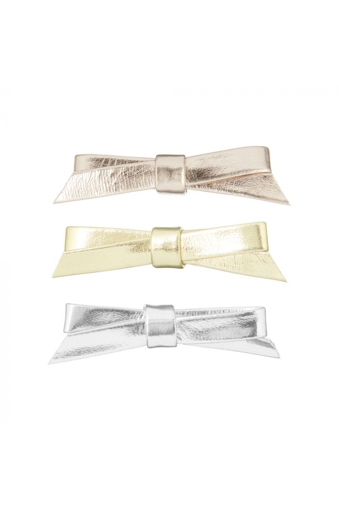 Mimi & Lula Metallic Jeanie Bow Clips Metallic