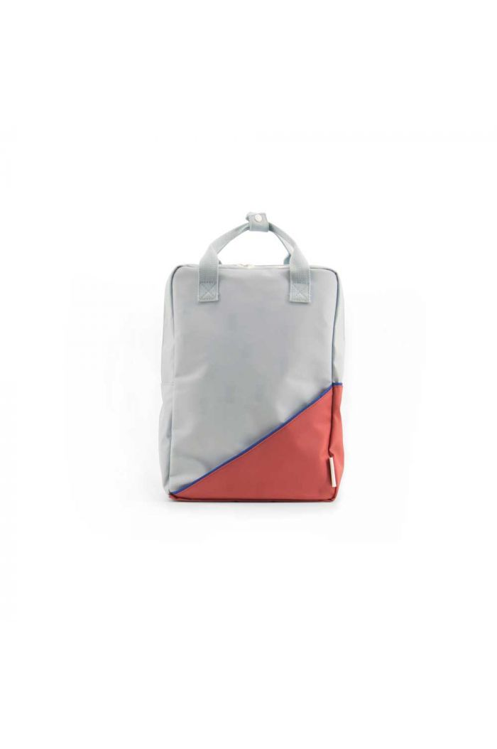 Sticky Lemon Backpack Diagonal Powder blue / Faded red