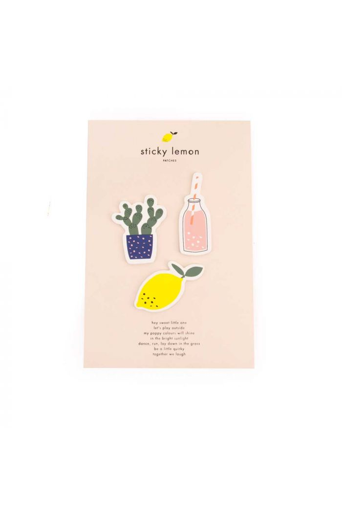 Sticky Lemon Patches Citron-Cactus-Bottle