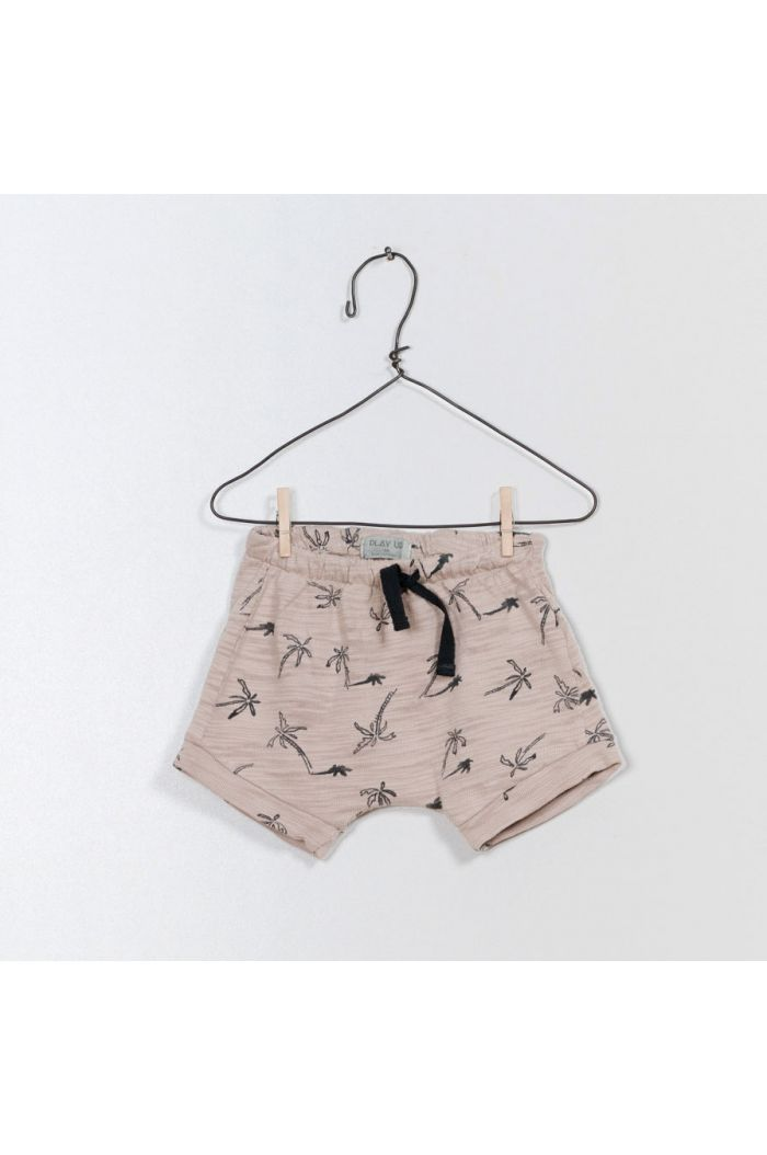 Play Up Printed Flamé Jersey Shorts Almond