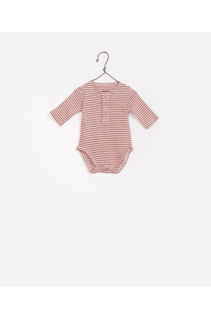 Play Up Striped Rib Bodysuit R227P