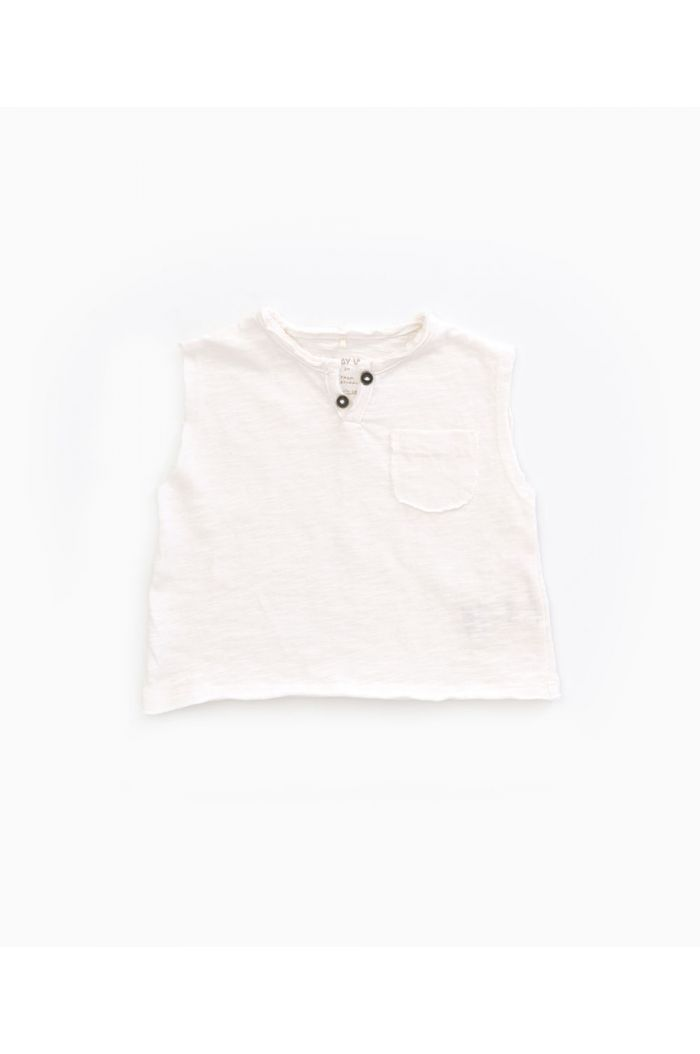 Play Up Flamé Jersey Sleeveless T-shirt Pearl