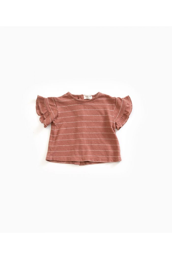 Play Up Striped Jersey T-shirt Old Tile