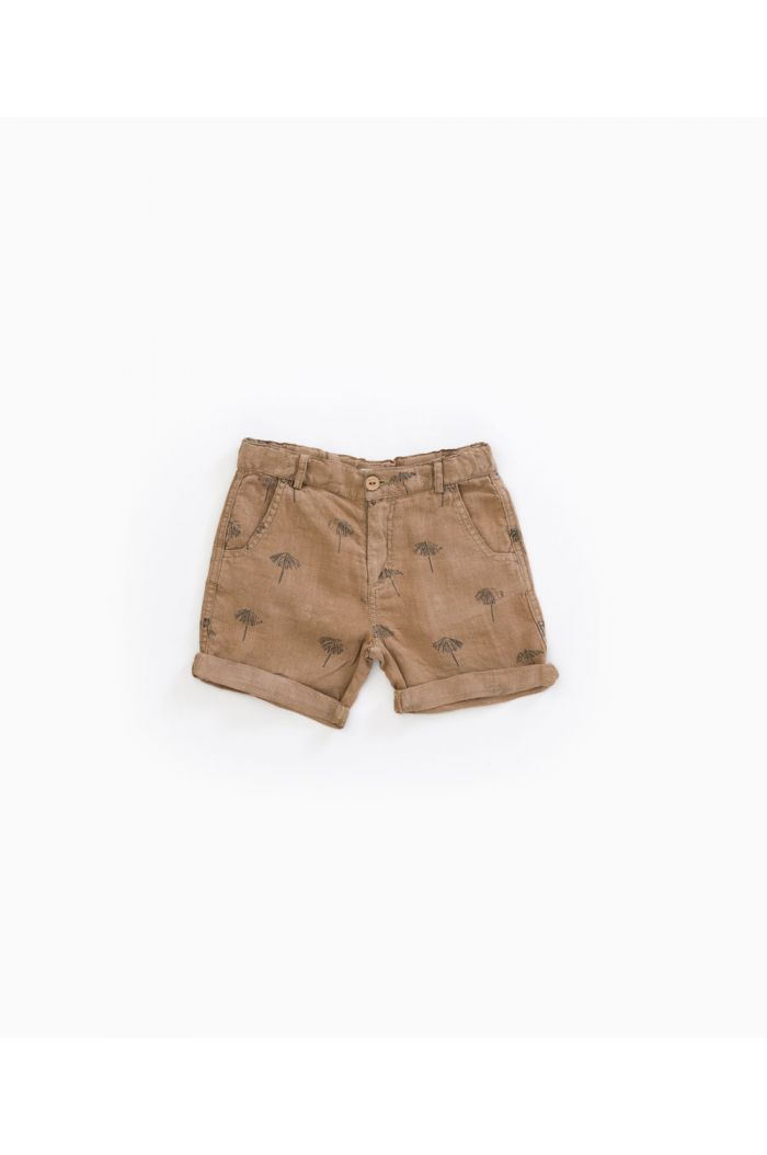 Play Up Printed Linen Shorts Hemp