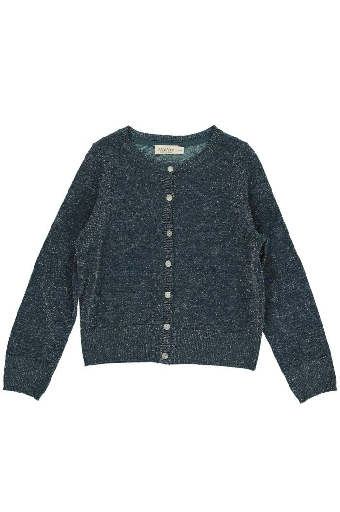 MarMar CpH Tilda Lurex Knit Cardigan Oily Blue
