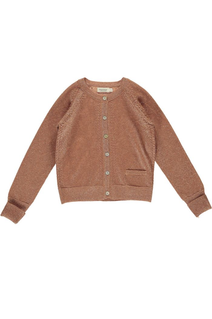 MarMar Cph Tillie Cardigan Lurex Knit Red Earth