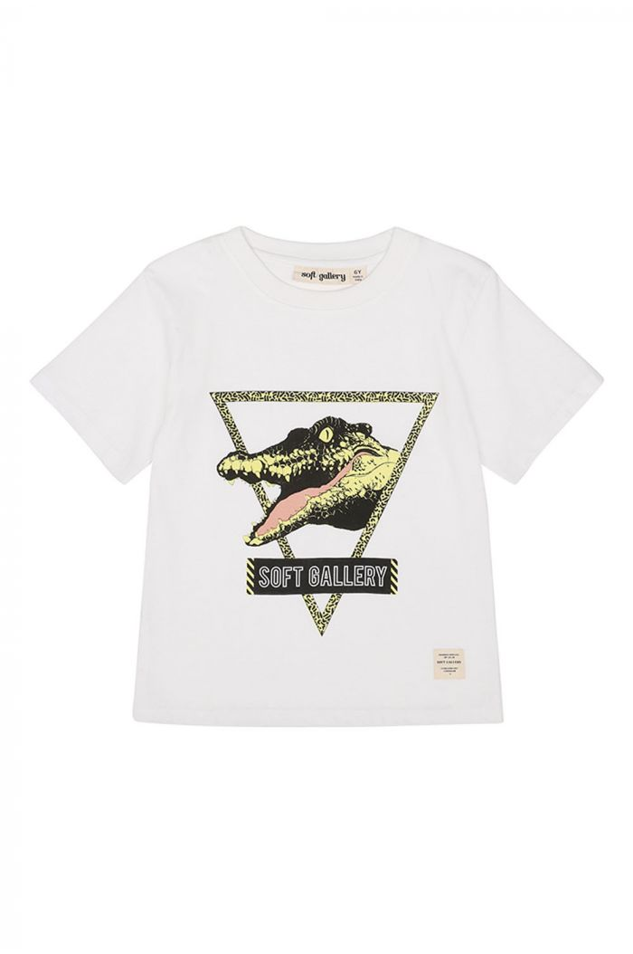 Soft Gallery Asger T-shirt, White See Ya