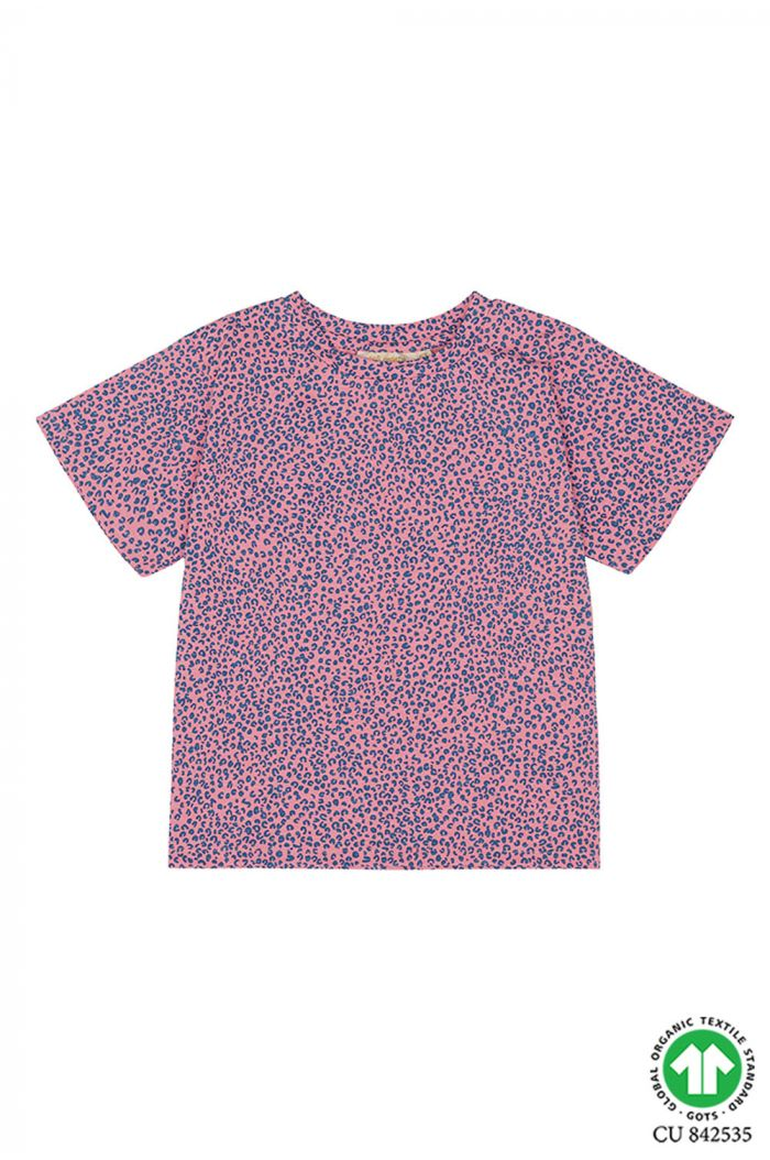 Soft Gallery Dominique T-shirt, Pink Icing All-over print Leospot