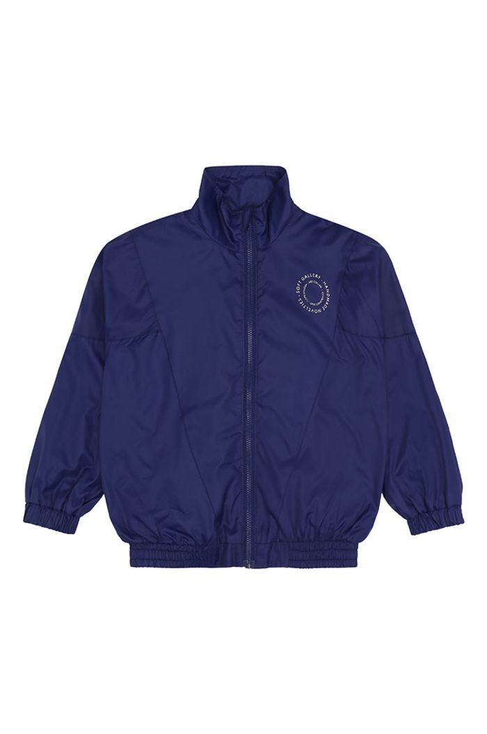 Soft Gallery Dixon Jacket, Dress Blue Cream Logo