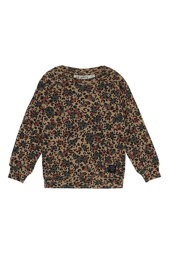 Soft Gallery Chaz Sweatshirt  Doe, All-over print Camoleo