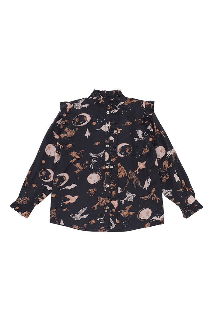 Soft Gallery Tilde Shirt  Peat, All-over print Enchanted forest