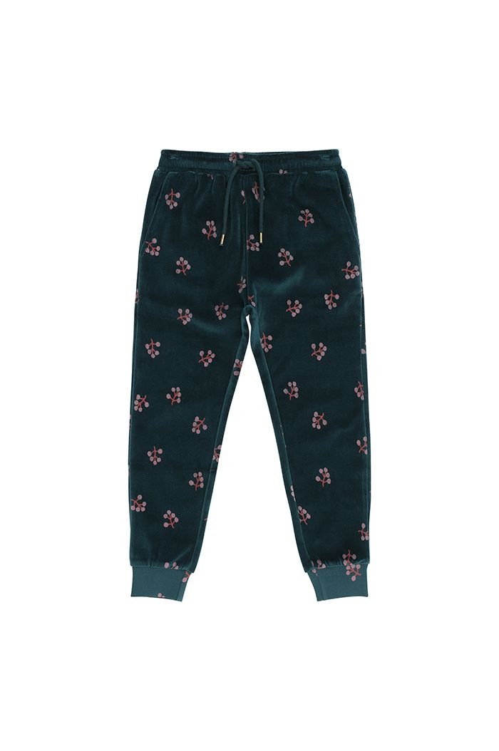 Soft Gallery Charline Pants  Deep Teal, All-over print Winterberry