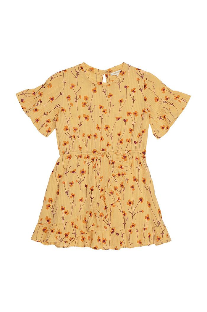 Soft Gallery Dory Dress Golden Apricot, All-over print Buttercup