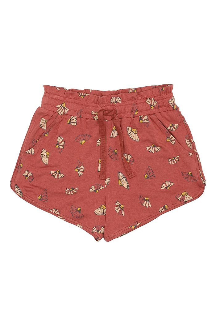 Soft Gallery Cera Shorts Burnt Brick, All-over print Camomile