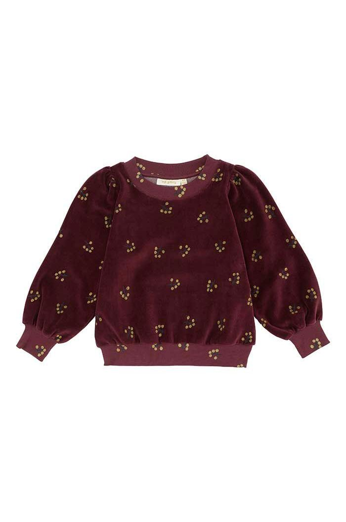 Soft Gallery Kids Era Sweatshirt All Over Print Winterberry
