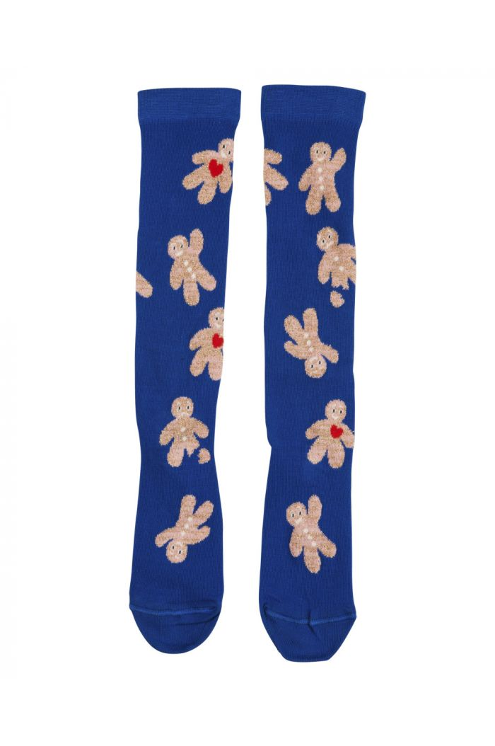 BangBang Copenhagen Gingerbread knee socks Blue