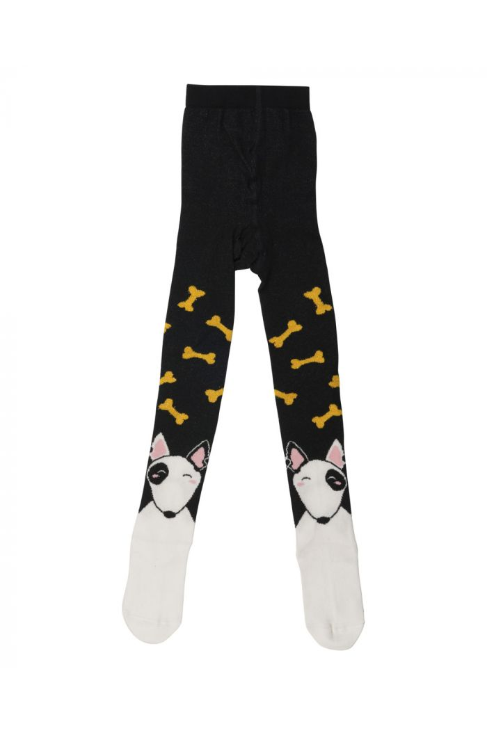 Wauw Capow Bone Love tights with Feet Black