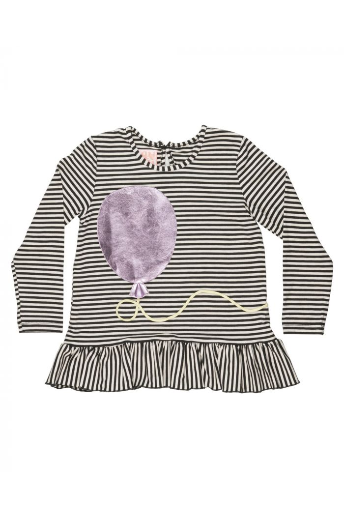 Wauw Capow Ella Balloony Longsleeve Black and White stripes