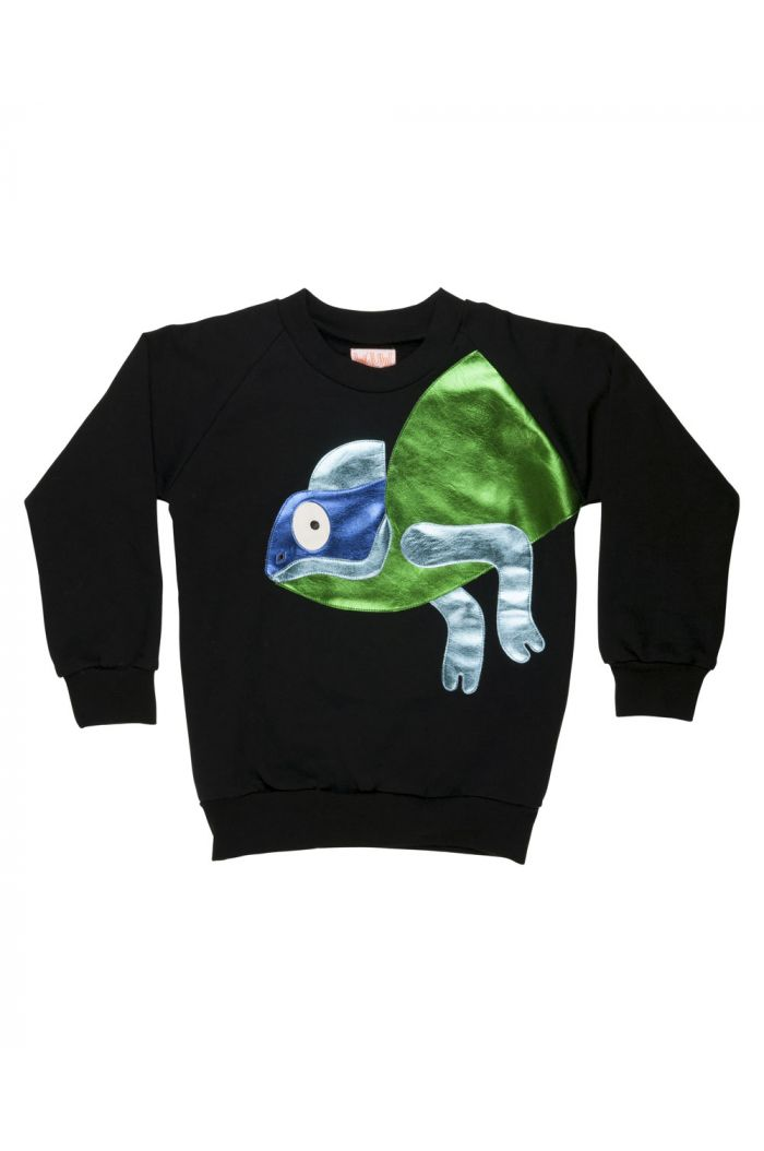 Wauw Capow Rebel Reptil sweatshirt Black