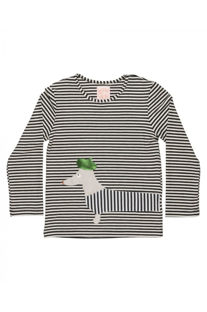 Wauw Capow Stretch it Longsleeve Black and White stripe