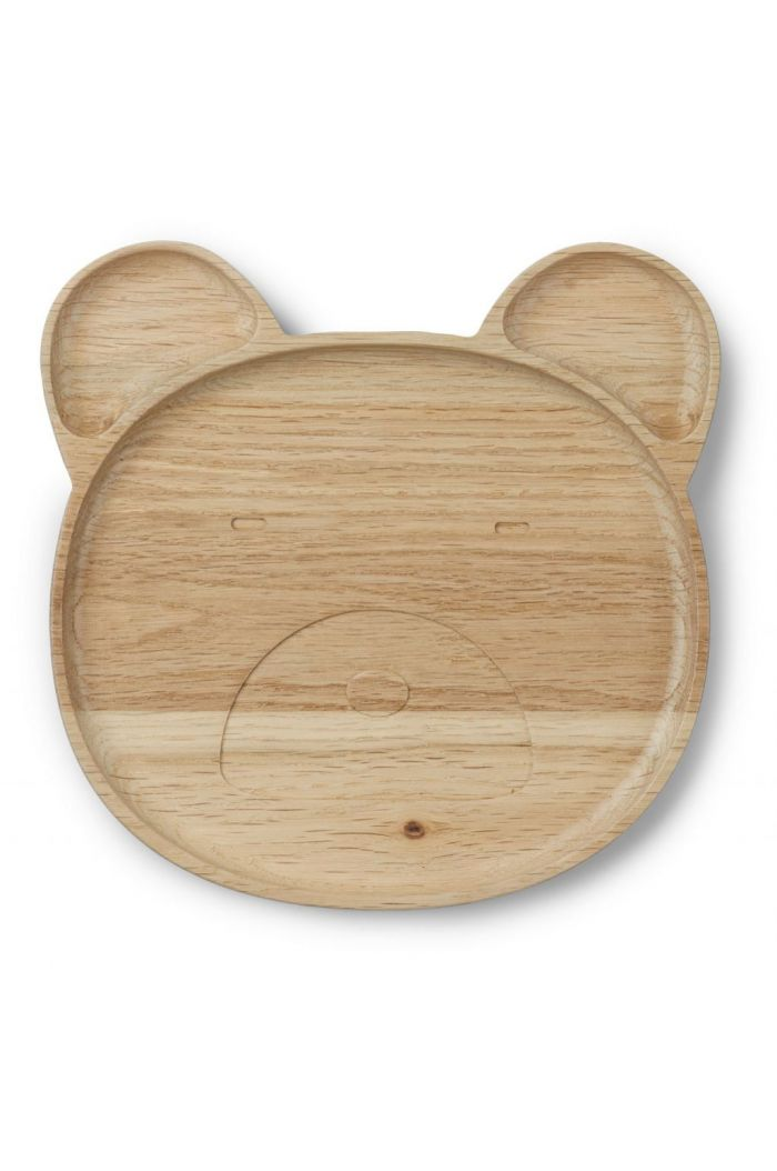 Liewood Conrad wood plate Mr bear natural