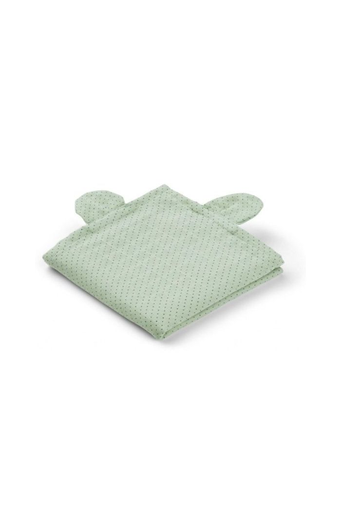Liewood Hannah muslin cloth mr bear 2 pack Mr bear little dot dusty mint