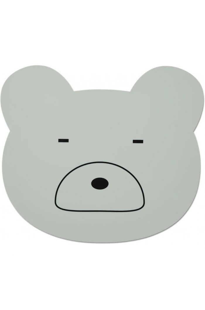 Liewood Aura placemat Mr bear dusty mint