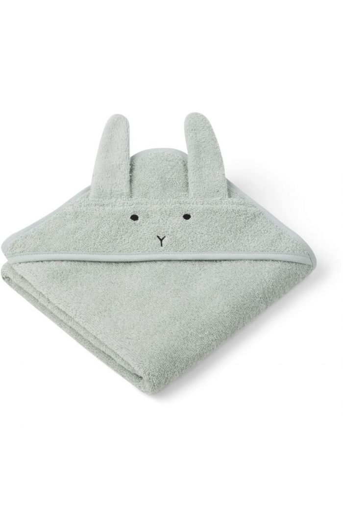 Liewood Albert Hooded Towel Rabbit dusty mint