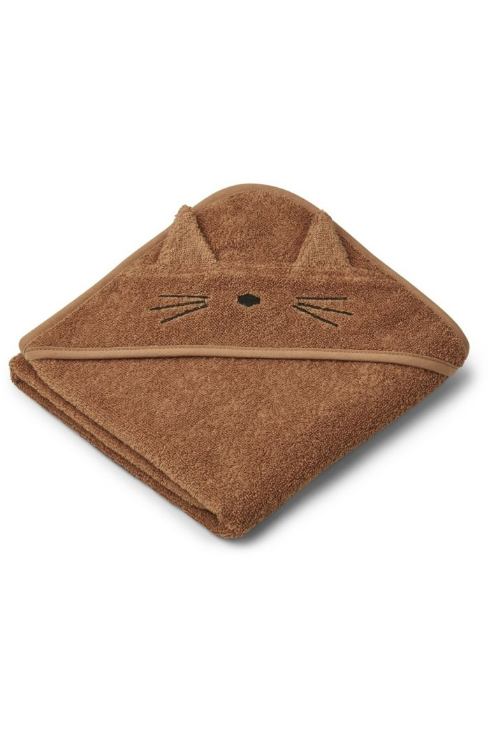 Liewood Albert Hooded Towel Cat terracotta