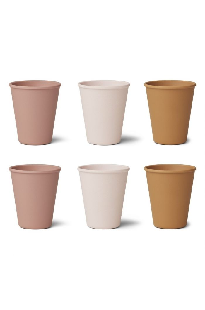 Liewood Gertrud Bamboo Cup 6-pack Rose multi mix
