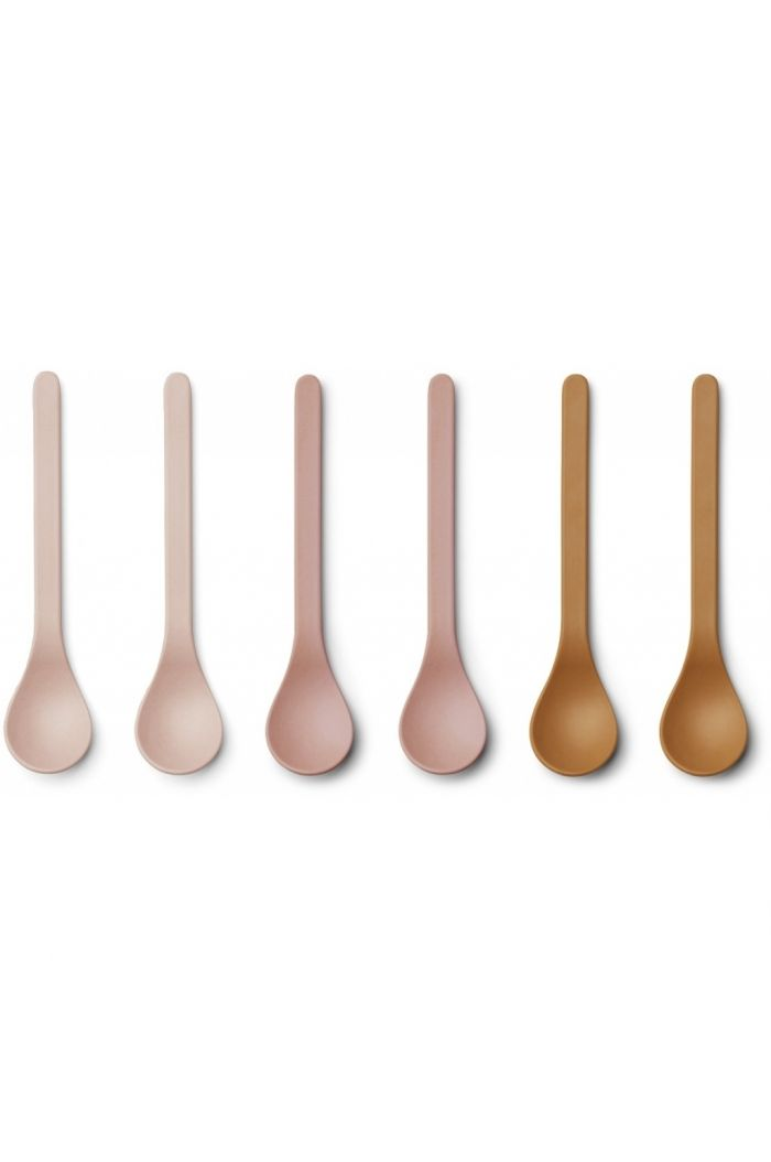 Liewood Etsu Bamboo Spoon 6-pack Rose multi mix