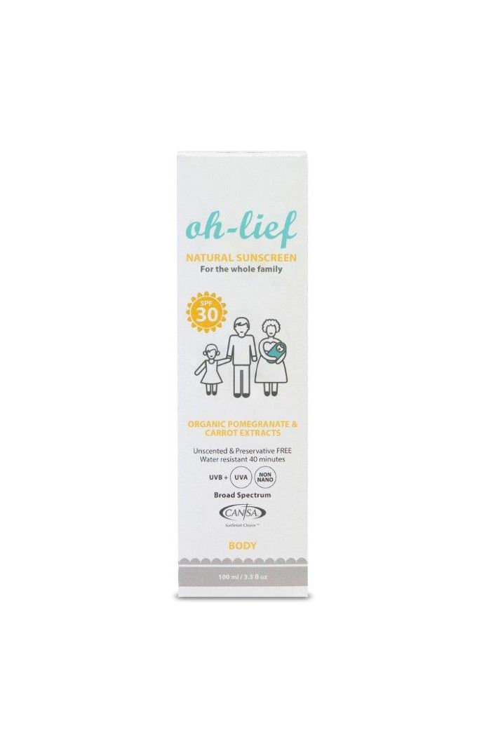 oh-lief Natural Sun Screen for Body SPF30