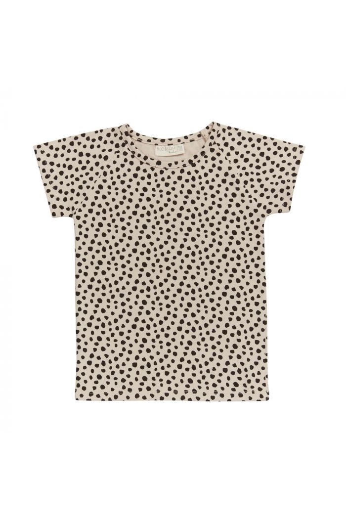 Blossom Kids Raglan short sleeve shirt Animal Dot - Soft Sand