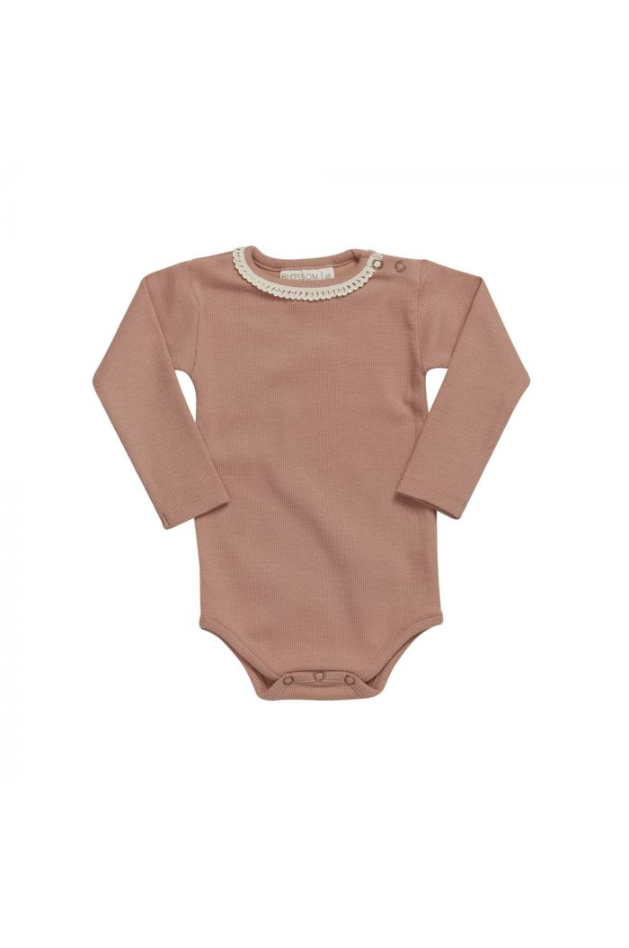 Blossom Kids Body long sleeve with lace Toffee Blush