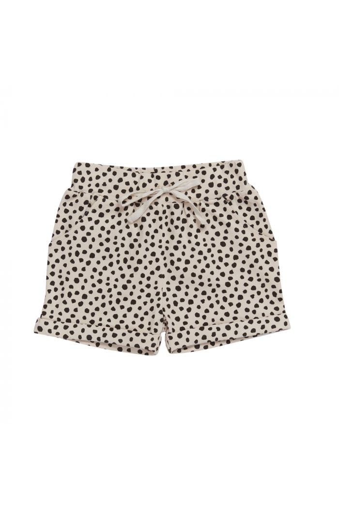 Blossom Kids Shorts Boy Animal Dot - Soft Sand