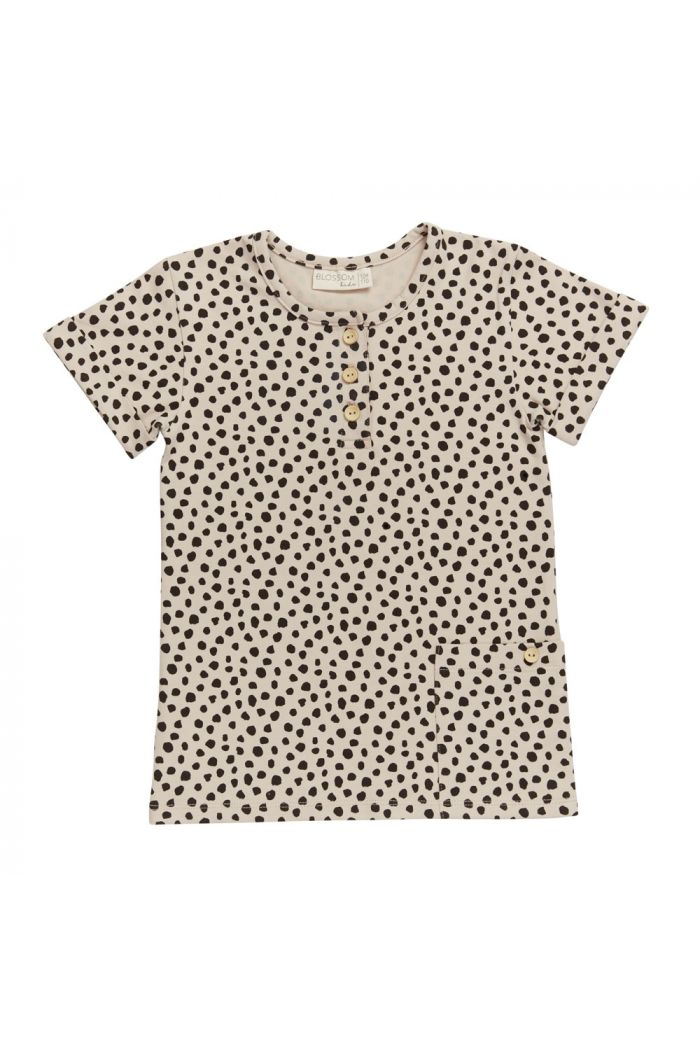 Blossom Kids Shirt short sleeve Animal Dot - Soft Sand