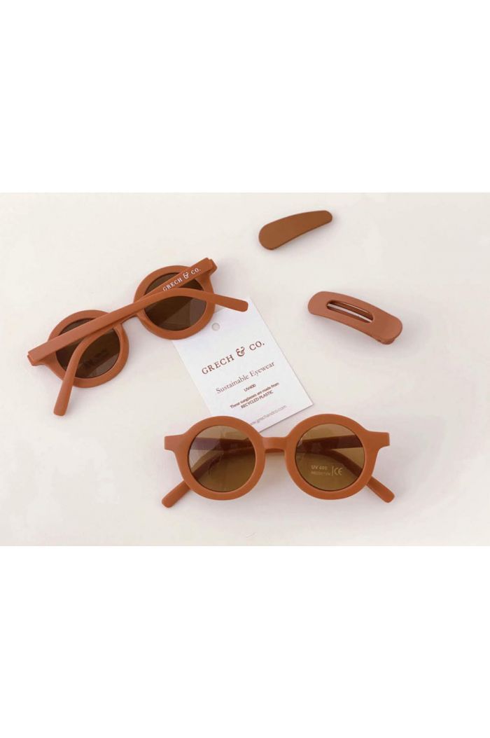 Grech & Co Sustainable Sunglasses Rust