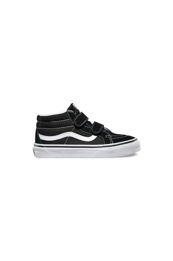 Vans Youth SK8-Mid Reissue Velcro Black/True White