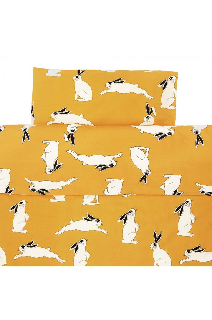 Mini Rodini Rabbit bed set baby Yellow