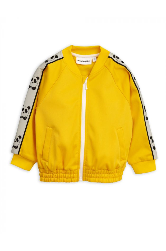 Mini Rodini Panda Track Jacket Yellow