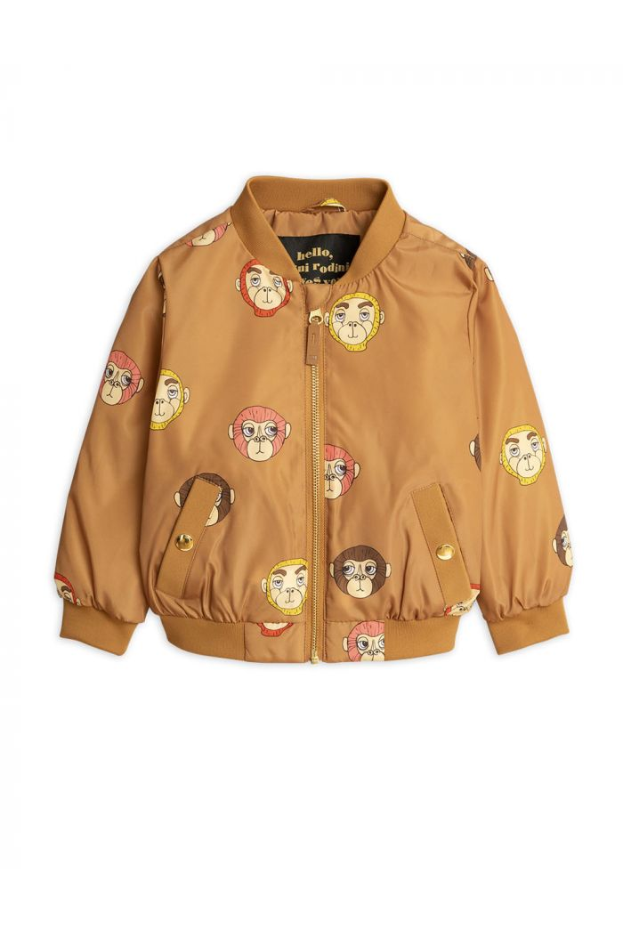 Mini Rodini Monkey baseball jacket Brown