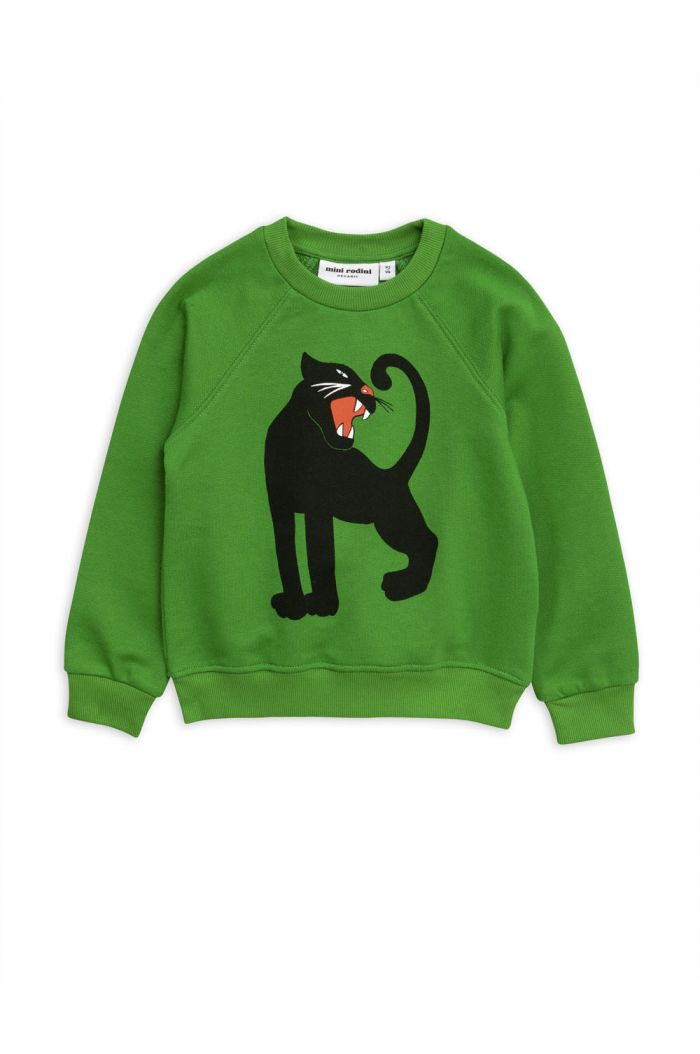 Mini Rodini Panther single print sweatshirt Green