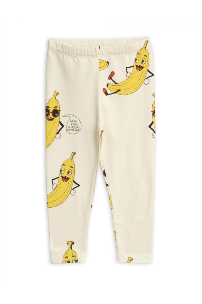 Mini Rodini Banana all-over print leggings Offwhite