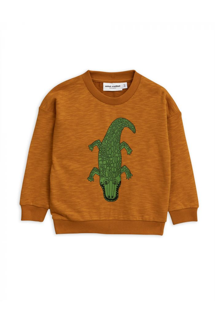 Mini Rodini Crocco single print sweatshirt Brown